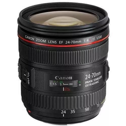 Lente canon ef 24-70mm f/4l is usm garantia novo