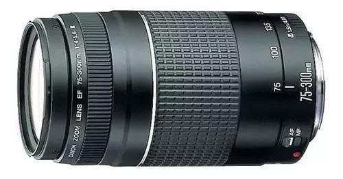 Lente canon ef 75-300mm f/4-5.6 iii garantia nova
