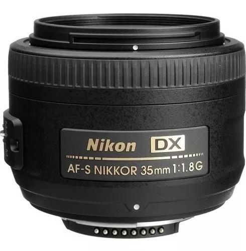 Lente nikon 35mm f/1.8g af-s dx autof+paras+case envio já