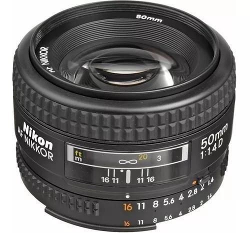 Lente nikon 50mm f/1.4d fx af nikkor garantia 1 ano nfe