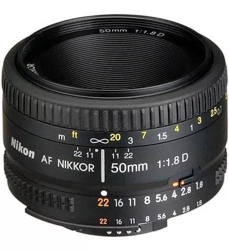 Lente nikon 50mm f/1.8d af fx garantia 1 ano pta-entrega nfe