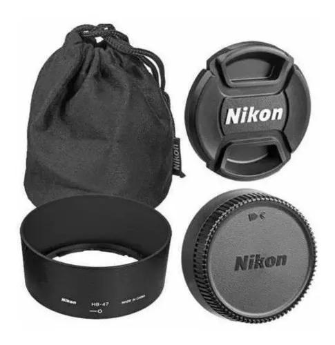 Lente nikon 50mm f/1.8g af-s autofoco case parasol