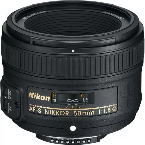 Lente nikon 50mm f/1.8g af-s fx case+parasol pta-entrega nfe
