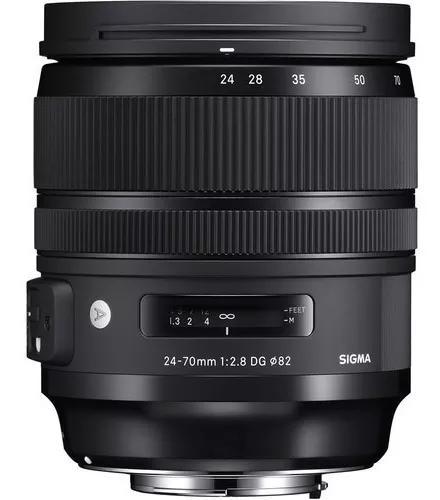 Lente sigma 24-70mm f/2.8 dg os hsm art - canon s