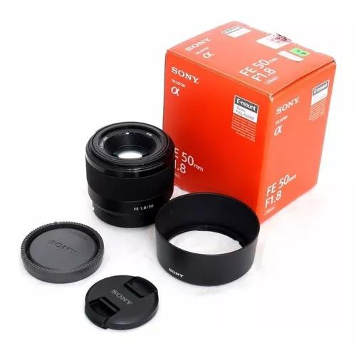 Lente sony fe 50mm f/1.8 e-mount sel50f18f caixa lacrada nfe