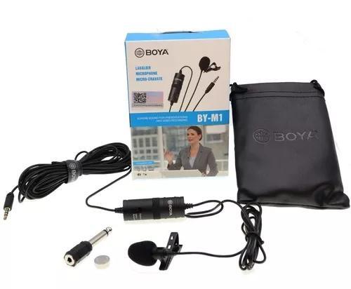 Microfone lapela para celular e câmeras boya by-m1