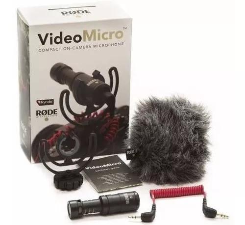 Microfone rode videomicro compacto rycote deadcat prot vento