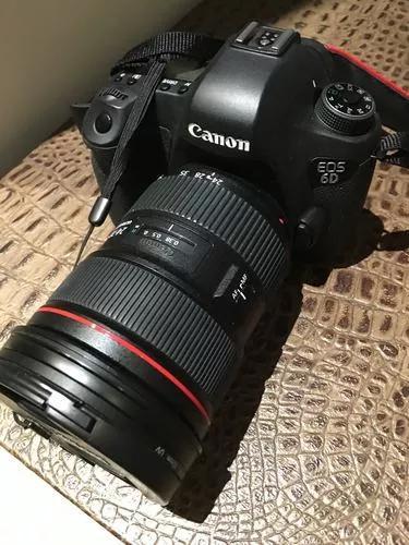 Máquina fotográfica canon eos 6d com lente 24-70mm