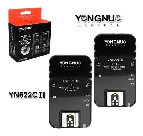 Radio flash yongnuo yn 622c ii e-ttl wireless para canon