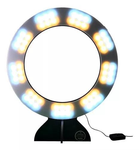 Ring light maxx luz quente e fria com difusor de luz