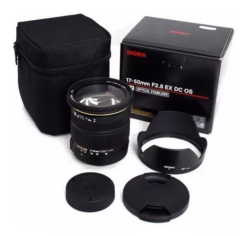 Sigma 17-50mm F/2.8 Dc Ex Os Hsm Autofoco+estab Imag
