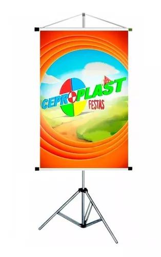 Suporte porta banner 1,80m retratil pedestal + lindo brinde
