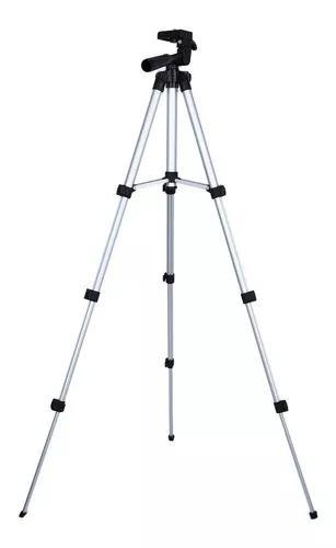Tripé universal telescópico câmera projetor celular 1,20