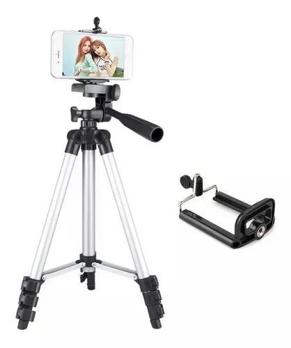 Tripé universal telescópico para câmera e celular 1,2 m