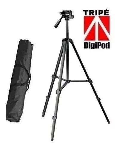 Tripe para camera digital filmadora dslr tr450 1.35 mt