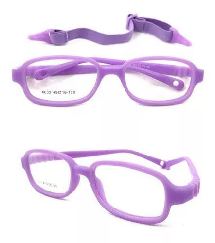 Armação 6032 óculos grau flexível silicone infantil