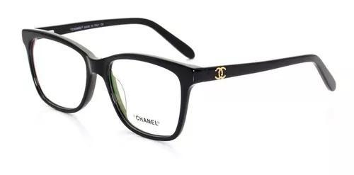 Armação oculos de grau chanel quadrada x3272 frete grátis