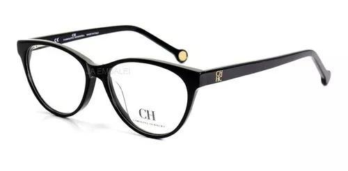 Armação oculos de para grau carolina herrera ch650v