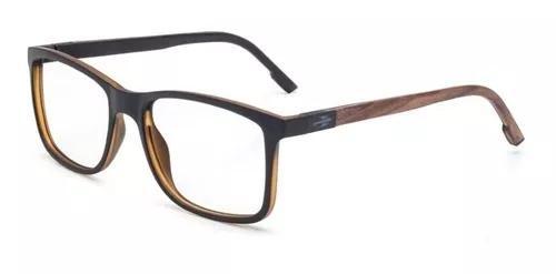 Armação oculos grau mormaii pequim wood m6067afn53 preto