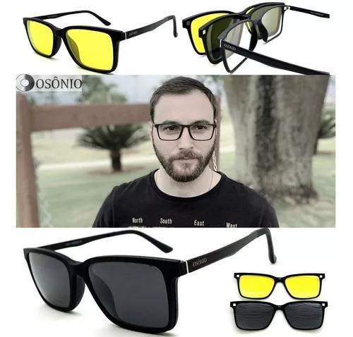 Armação oculos grau sol original osônio os103 solar clip