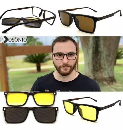Armação oculos grau sol osônio os149 solar clip on