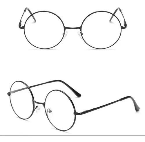 Armação p/ óculos de grau retro vintage geek redondo