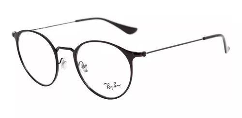 Armação óculos de grau ray-ban rb 6378 2904 preto redondo