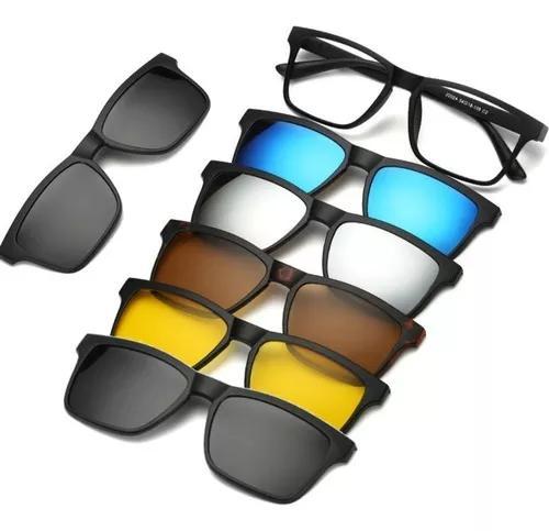 Armação óculos p/ grau clip on 7