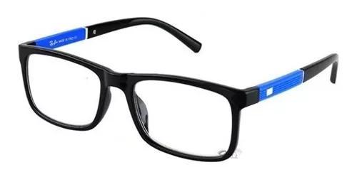 Armação óculos rayban grau quadrado masculino f
