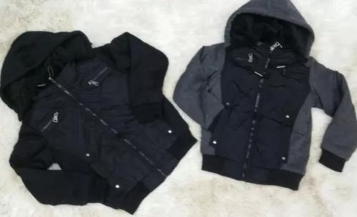 Jaqueta casaco de frio menino infantil moleton com capuz