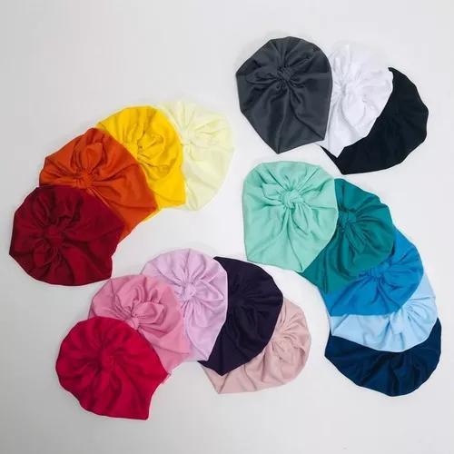 Kit com 10 turbantes zoe infantil bebê touca gorro
