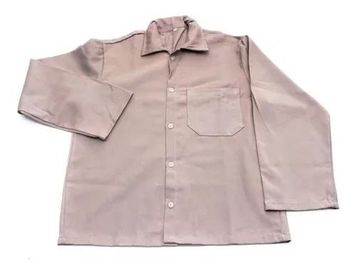 Kit uniformes (20 jaleco manga longa) brim pesado cinza