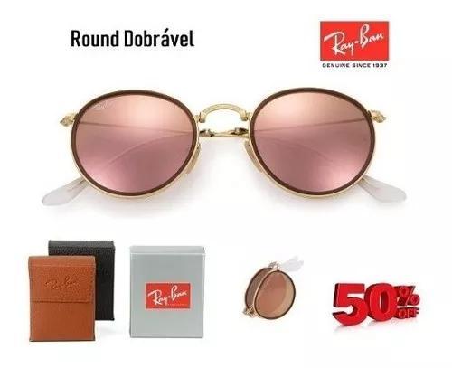 Oculos de sol round dobravel lindo estilo retro