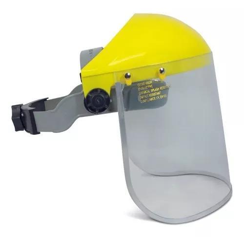 Protetor facial proteplus c/ catraca escudo facial incolor