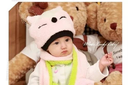 Touca 53# kit cachecal conjunto crianca infantil bone 1 a 5a