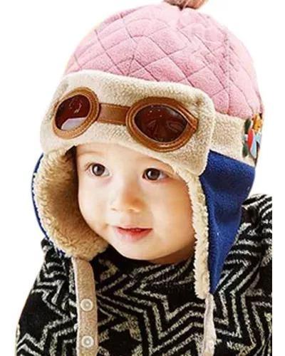 Touca aviador gorro piloto criança e bebê