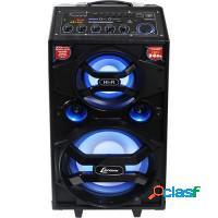Caixa de som amplificada lenoxx 300w bluetooth usb