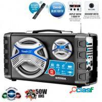 Caixa de som mondial 50w c/ bluetooth, 50w, rádio