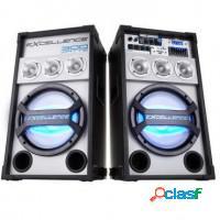 Kit 2 caixas de som amplificada nks 150w rms falan