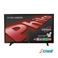 Smart tv 55 philco wifi hdmi usb com android conve
