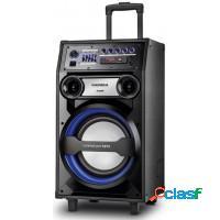Caixa de som amplificada mondial 240w mp3 fm sd ca