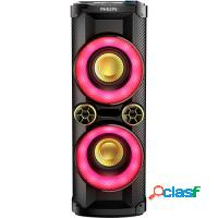 Mini system philips torrebox 900w, bluetooth preto