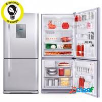 Refrigerador frost free duplex electrolux inox 596