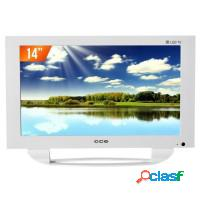 Tv led 14 cce usb som stereo tela widescreen hdtv