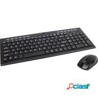Kit teclado + mouse wireless sem fio piscblack
