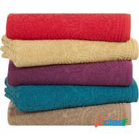 Kit de 4 toalhas premium banho, rosto de piso