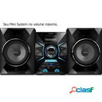 Mini system sony bombox 1000w 2xusb am/fm bluetoot