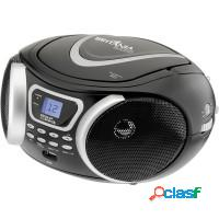 Rádio portátil cd player britânia mp3, display