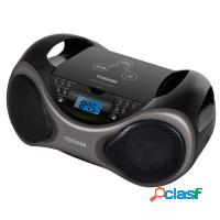 Rádio portátil cd player semp toshiba mp3 usb fm