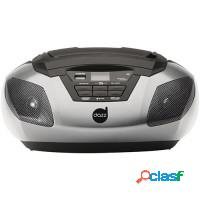 Cd player portátil am/fm aux dazz usb 5w